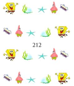 Naklejki wodne na paznokcie - 212