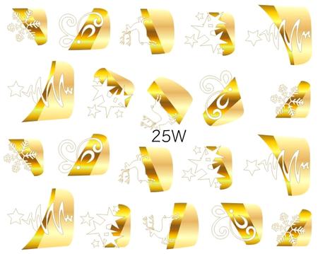 Naklejki wodne na paznokcie - 25W (1)