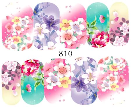 Naklejki wodne na paznokcie - 810 (1)