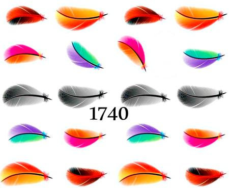 Naklejki wodne na paznokcie - 1740 (1)