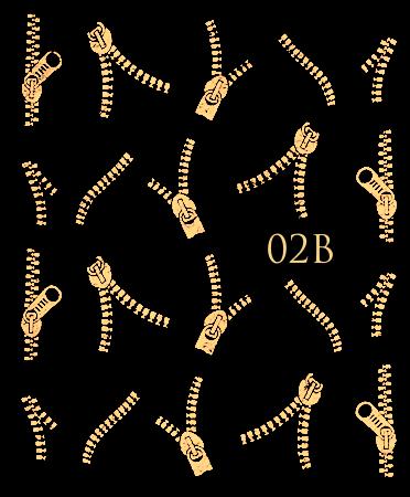 Naklejki wodne na paznokcie metaliczne złote suwaki