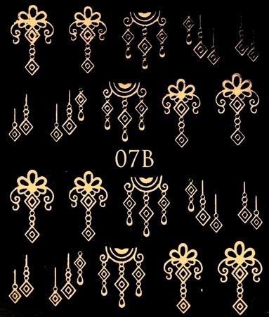 Naklejki wodne na paznokcie metaliczne złote