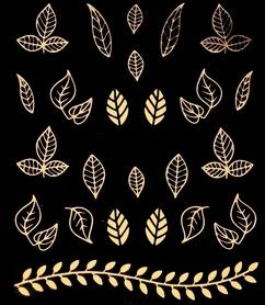 Naklejki wodne na paznokcie metaliczne złote jesienne liście