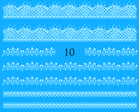 Naklejki wodne na paznokcie - 10