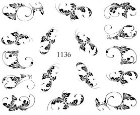 Naklejki wodne na paznokcie - 1136