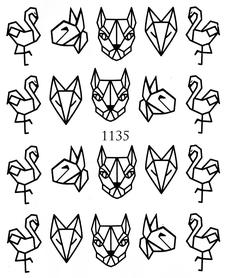 Naklejki wodne na paznokcie - 1135