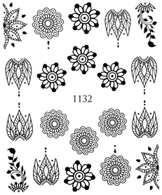 Naklejki wodne na paznokcie - 1132