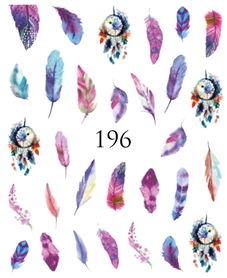 Naklejki wodne na paznokcie - 196