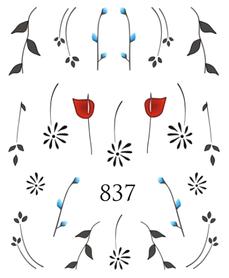 Naklejki wodne na paznokcie - 837