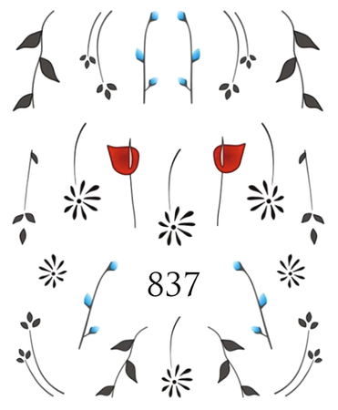 Naklejki wodne na paznokcie - 837 (1)