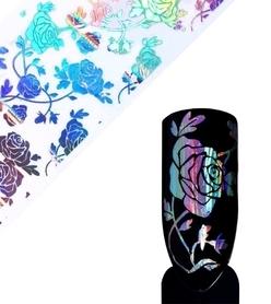 Folia transferowa - holograficzna - Róża