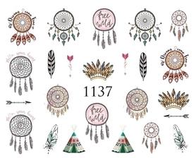 Naklejki wodne na paznokcie - 1137