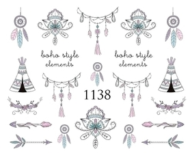 Naklejki wodne na paznokcie - 1138
