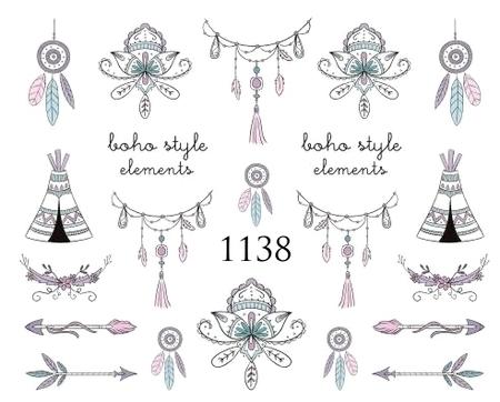 Naklejki wodne na paznokcie - 1138 (1)