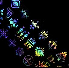 Folia transferowa - holograficzna - AZTECKA