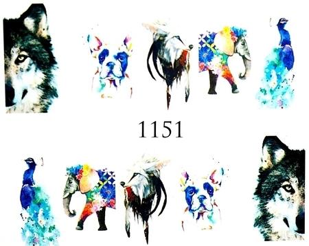 Naklejki wodne na paznokcie - 1151 (1)