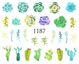 Naklejki wodne na paznokcie - 1187