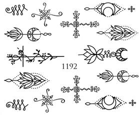 Naklejki wodne na paznokcie - 1192
