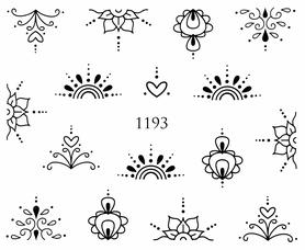 Naklejki wodne na paznokcie - 1193