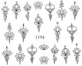 Naklejki wodne na paznokcie - 1194