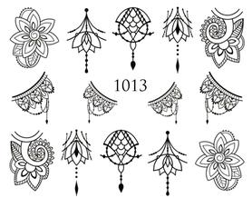 Naklejki wodne na paznokcie - 1013