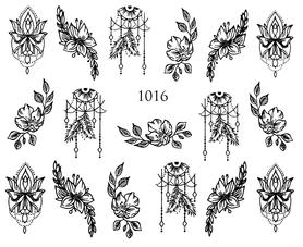 Naklejki wodne na paznokcie - 1016