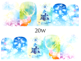 Naklejki wodne na paznokcie - 20W