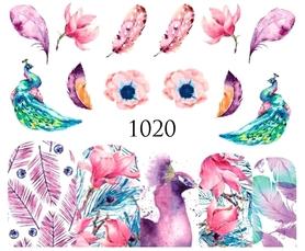 Naklejki wodne na paznokcie - 1020