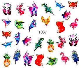 Naklejki wodne na paznokcie - 1037