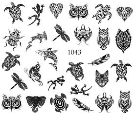 Naklejki wodne na paznokcie - 1043