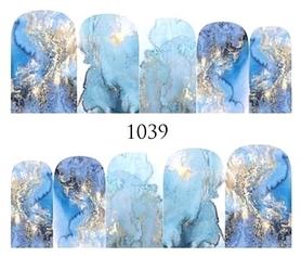 Naklejki wodne na paznokcie - 1039