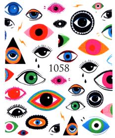 Naklejki wodne na paznokcie - 1058