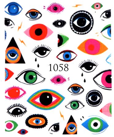 Naklejki wodne na paznokcie - 1058 (1)