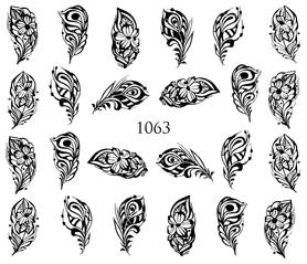 Naklejki wodne na paznokcie - 1063