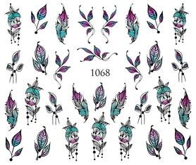 Naklejki wodne na paznokcie - 1068