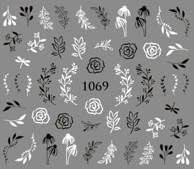 Naklejki wodne na paznokcie - 1069