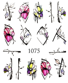 Naklejki wodne na paznokcie - 1075
