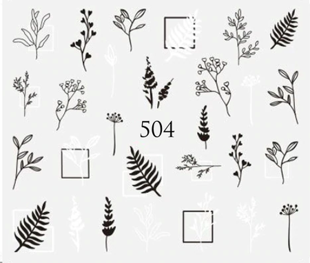 Naklejki wodne na paznokcie - 504 (1)