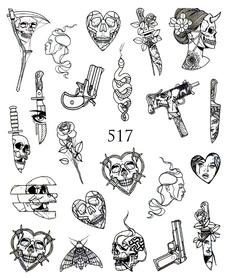 Naklejki wodne na paznokcie - 517