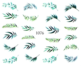 Naklejki wodne na paznokcie - 1076