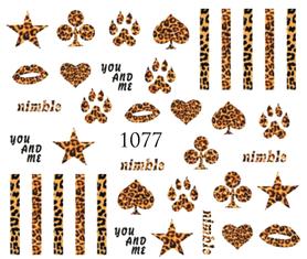 Naklejki wodne na paznokcie - 1077