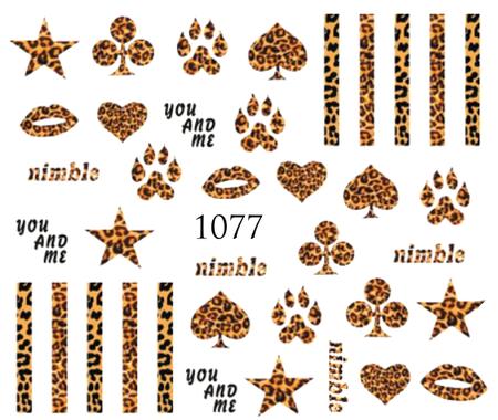Naklejki wodne na paznokcie - 1077 (1)