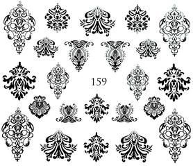 Naklejki wodne na paznokcie - 159