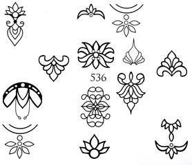 Naklejki wodne na paznokcie - 536