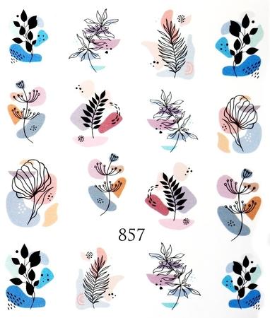 Naklejki wodne na paznokcie - 857 (1)
