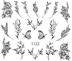 Naklejki wodne na paznokcie - 1122