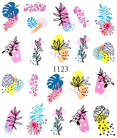 Naklejki wodne na paznokcie - 1123 (1)