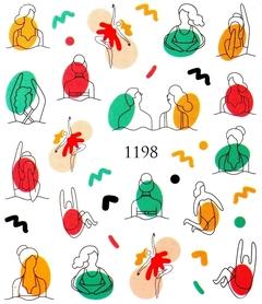 Naklejki wodne na paznokcie - 1198