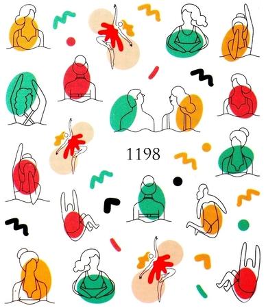 Naklejki wodne na paznokcie - 1198 (1)