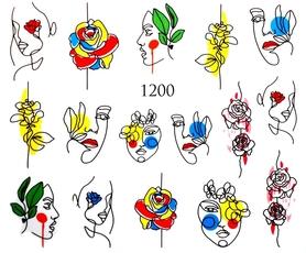 Naklejki wodne na paznokcie - 1200